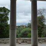 Pohled na chrám - Ancient Agora - Atény