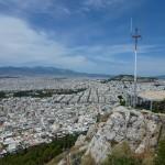 Výhled z hory Lycabettus - Atény