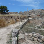 Sloup z pozůstatku chrámu - Egina - ostrov Aegina